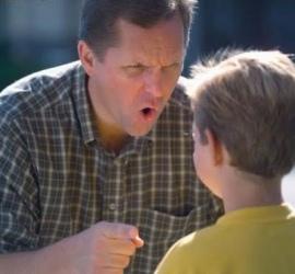 yelling dad